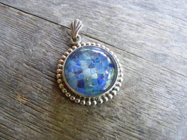 Round Beaded Black Opal Mosaic