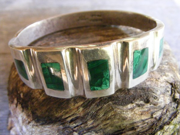 Channel Malachite Bracelet – Vintage Mexican