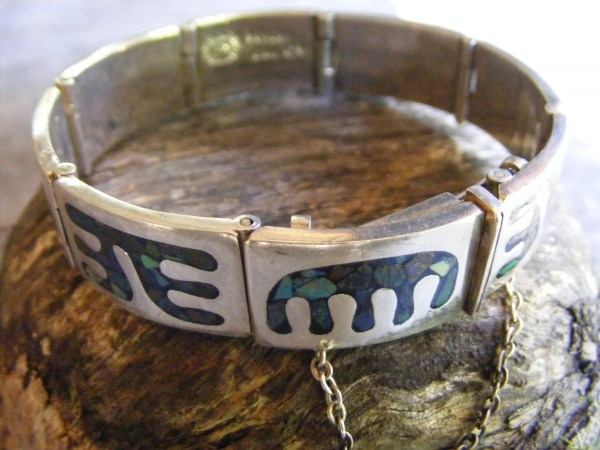 Eight Panel Hinged Bracelet – Vintage Mexican