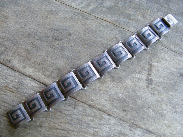 Greek Double Link Bracelet – Vintage Mexican