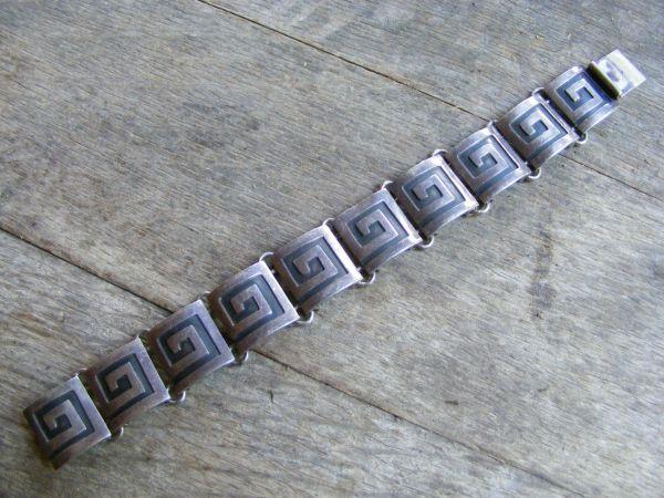 Greek Double Link Bracelet – Vintage Mexican
