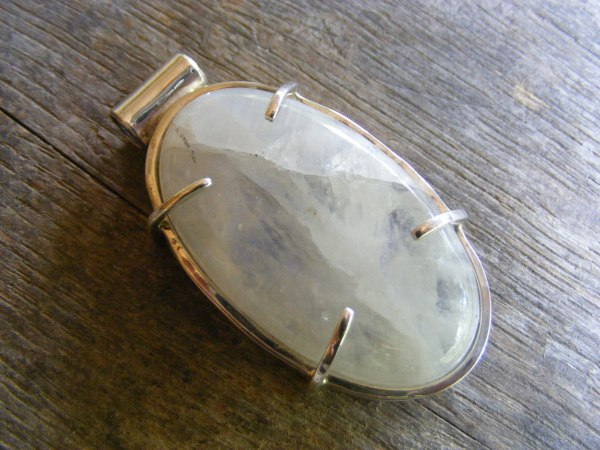 Custom Oval Moonstone Pendant