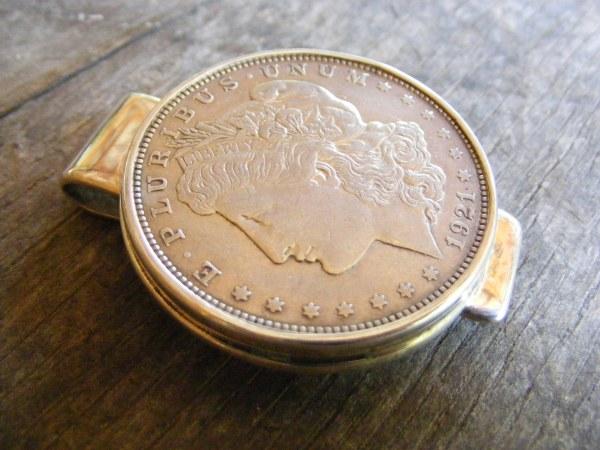 Silver Dollar Narrow Money Clip