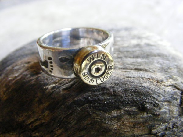 Footprints Bullet Ring 9mm Luger
