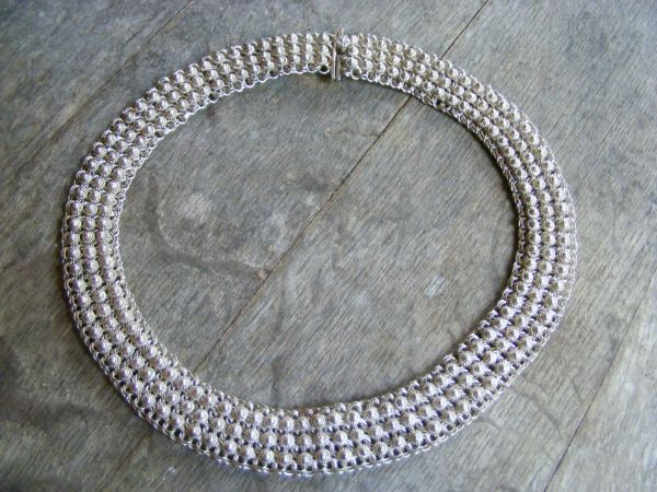 Chainmaille Filigree Choker Necklace – Vintage Mexican