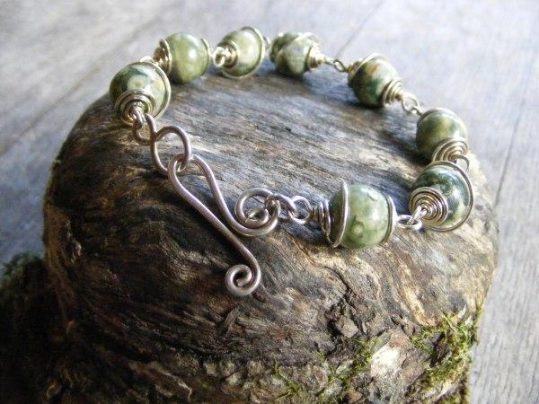 Rhyolite Spiral Bracelet