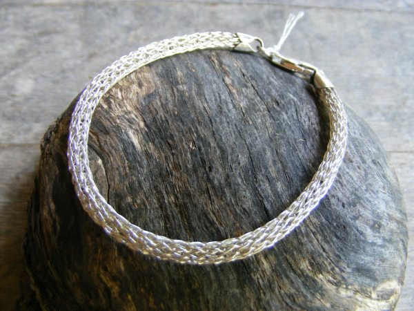 Viking Knit Bracelet with Crab Claw