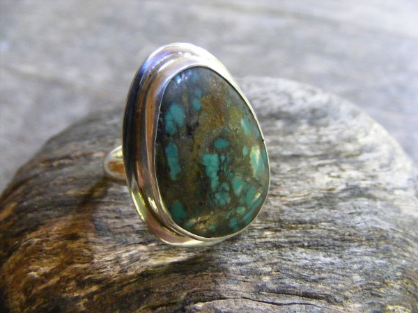 Turquoise Ring with Rim