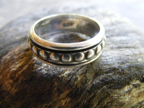 Spinner Ring – Beaded – Vintage Mexican