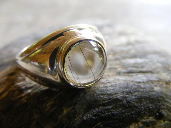 Round Rutilated Quartz Ring