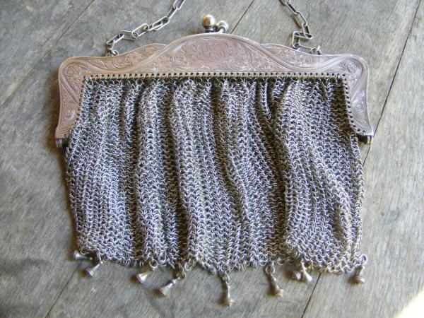 Engraved Mesh Purse