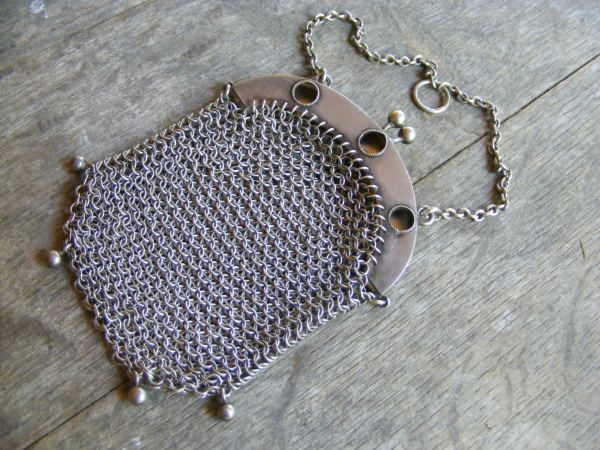 Chatelaine Mesh Purse with Portholes