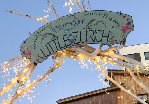The Little Zurich is an ethereal open-air holiday European style market at Wolverine Farm every Thursday-Saturday through the end of the year