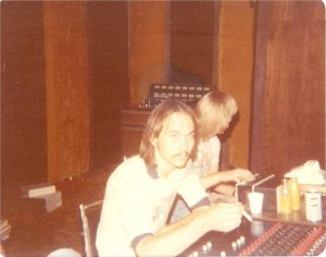 Frank Wiewel at the console