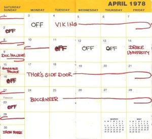 1978 April Calendar