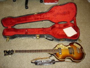 Pre-1968 Hofner Beatle Bass like the one my hero, Paul McCartney, used in the Beatles.