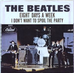 """Eight Days A Week"" 45 released in the US on Capitol"