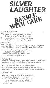"""Lyrics for """"Take My Money"""""""