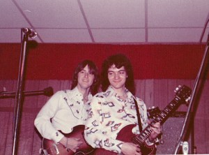 Mick and Mark at Scotty's in Wayne, NE 1975