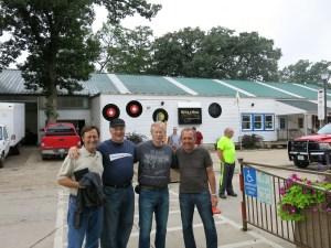 Silver Laughter 2014 minus Mark; The first day in Okoboji:  Mick, Jon, Kim and Paul