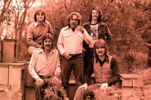 Silver Laughter 1976 - Top: Mick, Paul and Carl - Below: Ken and Jon