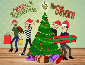 Happy Holidays from The Silvers: Glenn, Ricky, Tom and Mick