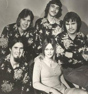 Ken Wiles (top left) in Ivory Coast 1972