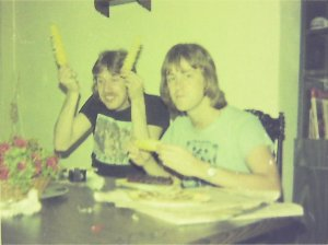 Ken with corn and Mick