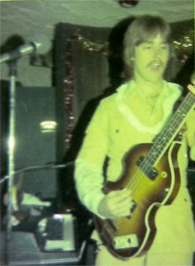 Mick on bass New Year's Eve 1977