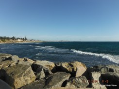 Looking towards Fremantle Port where the real Bulk carriers come and go