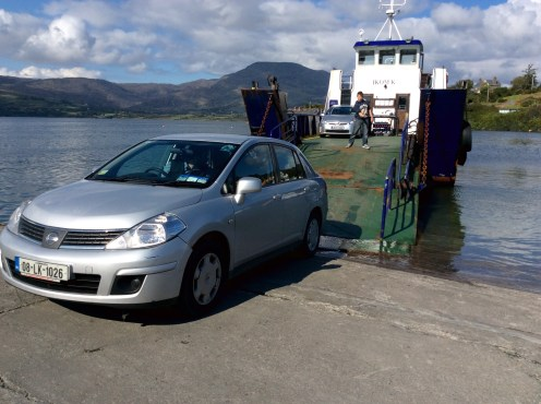 Reversing on to the Ferry at Rerrin.