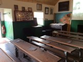 The classroom with slates on each desk