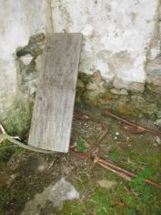 A discared school desk from Mulroy School. I may have sat at it myself, as did dozens of children before me.