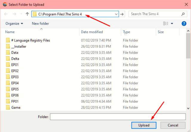 The Sims 4 Validator - 3 Select Game Folder