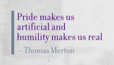Thomas Merton Pride Humility Quote