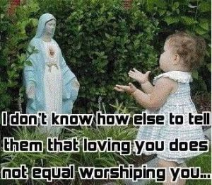Honor Mary not Worship her