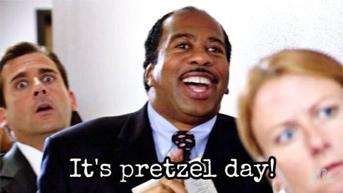 Pretzel day the office