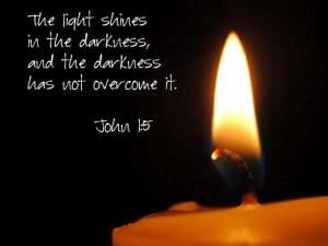 light over dark