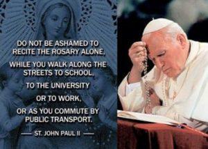 JPII rosary quote
