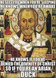 saint nick arius meme