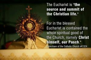 Eucharist quote as source and summit