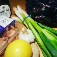 Prawns & Mussels in Prosecco sauce...