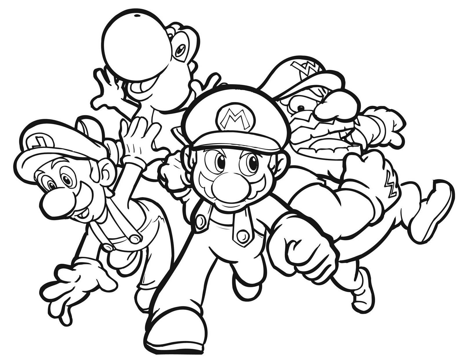 Top 24 Mario Coloring Pages For Kids