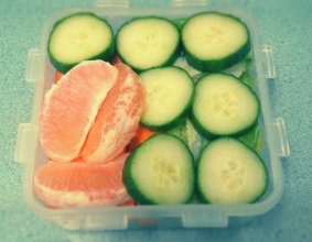 Carrots, Cucumbers, Grapefruit, & Lettuce
