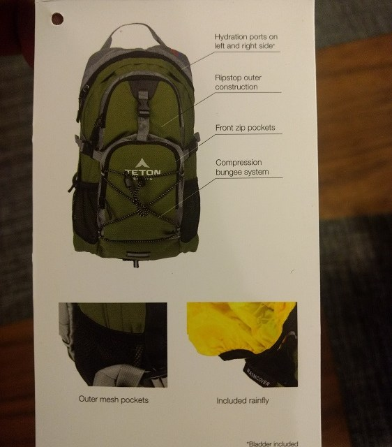 Teton Oasis 1100 18L Hydration Day Pack