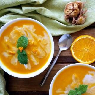 Crema Zanahoria, Porotos, Ajo Asado, y Naranja 1