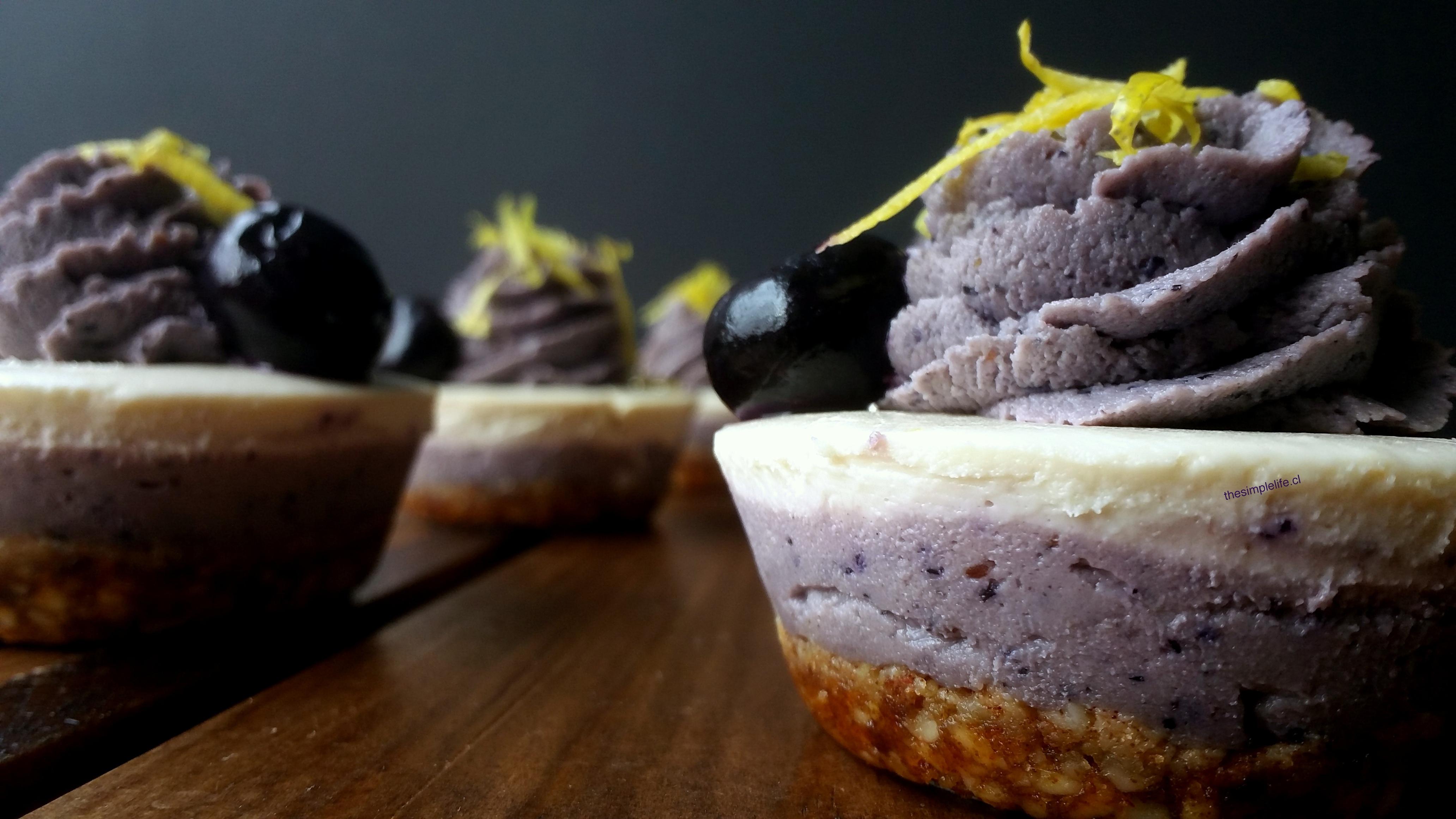 Cheesecake Crudivegano de Limón y Arándano-Maqui 18