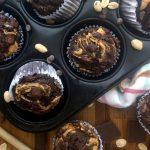 Muffins de Chocolate, Plátano, y Mantequilla de Maní 5