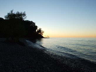 View from the beach at Four Mile Creek