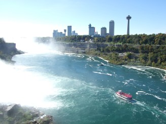 Maid of the Mist (See all the hotels on the Canadian side?!)